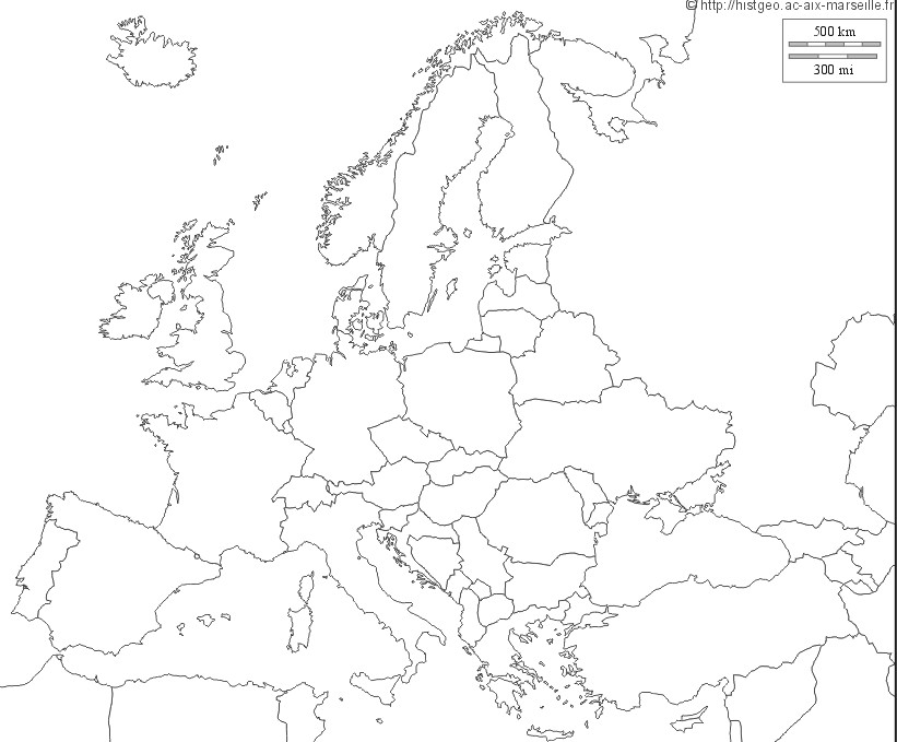 Carte D Europe Sans Pays | My blog