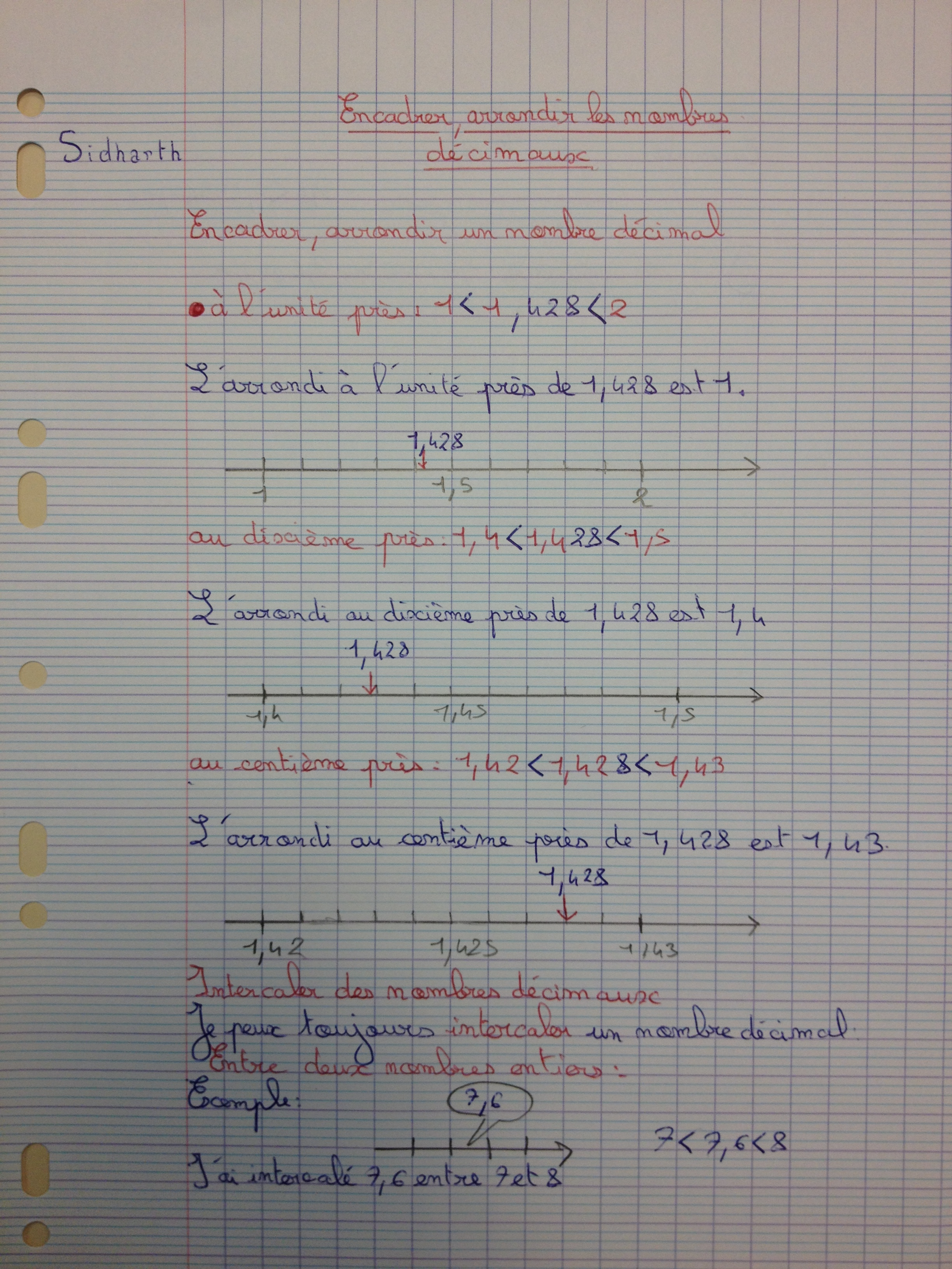 Encadrer Arrondir Les Nombres Decimaux Classe De Cm2 C De G Vie