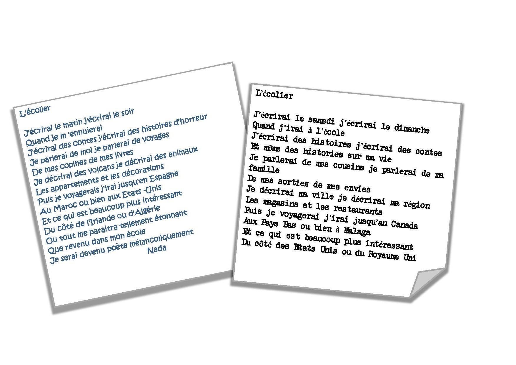 Extrêmement A la manière de Raymond Queneau: L'écolier - blog de la classe des  OP57