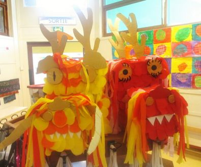 Les Dragons Chinois Ecole Maternelle Joinville