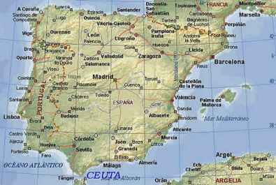 Карта испании провинция аликанте