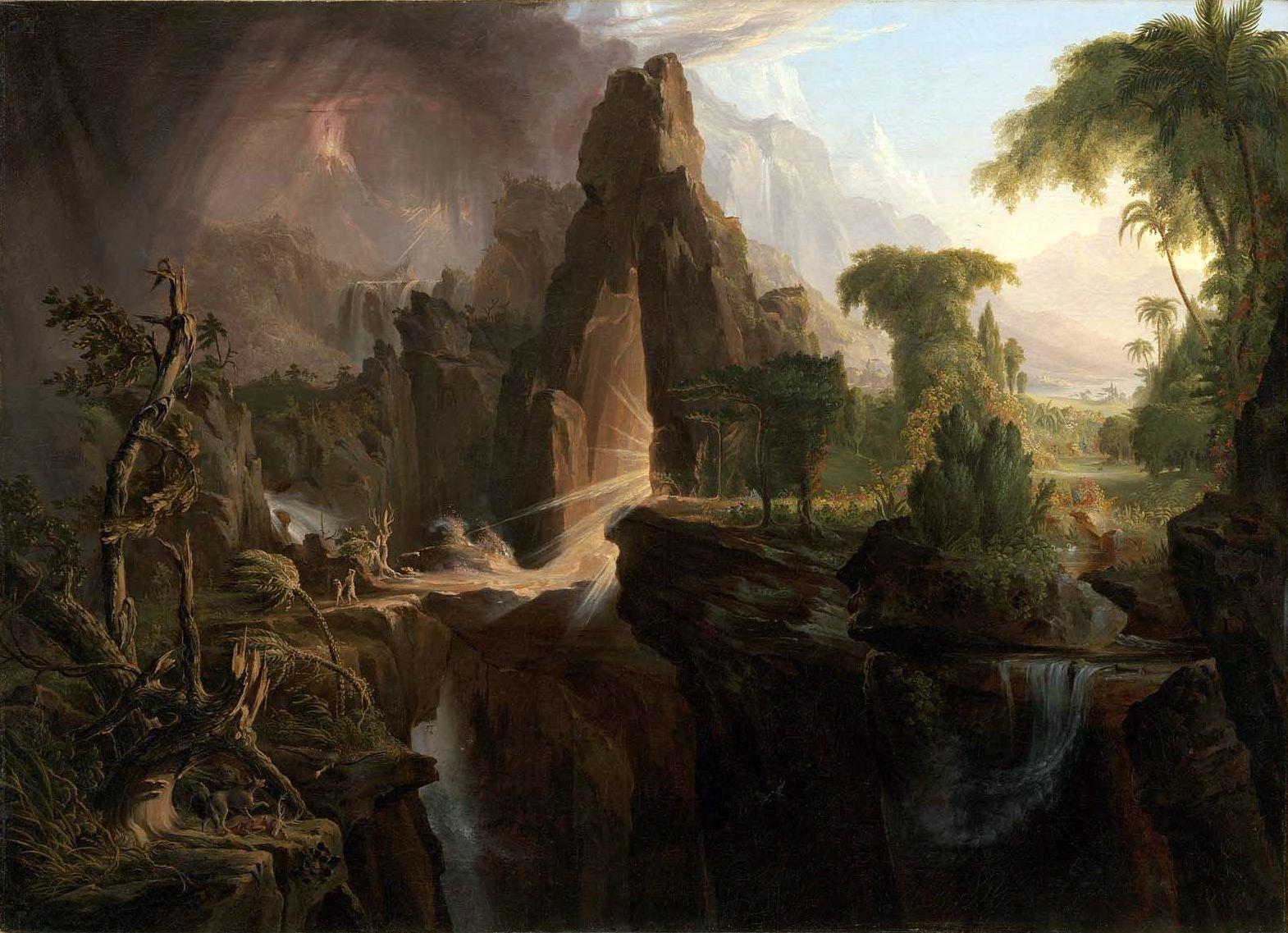 L 39 expulsion du jardin d 39 eden le paradis vu par le peintre - Effroyables jardins histoire des arts ...