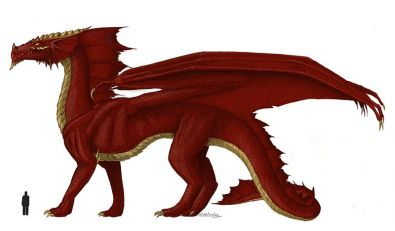 Dragon rouge, fan art de LittleDrakon pour Dongeons et Dragons