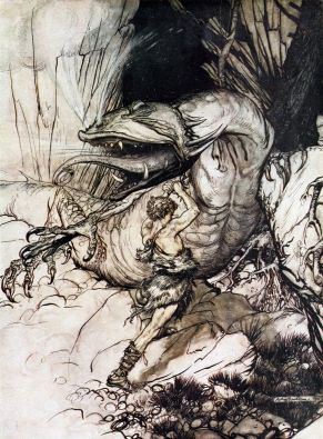 Arthur Rackham  [1911] Siegfried & The Twilight of the Gods (New Impression ed.), London: William Heinemann