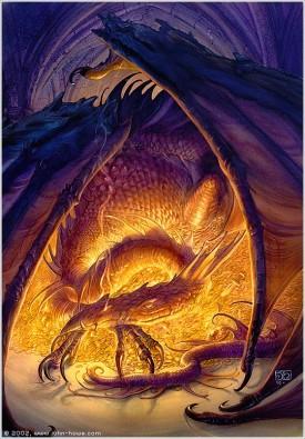 Smaug The Golden ©John Howe ; www.john-howe.com