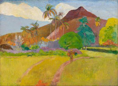 Montagnes tahitiennes (1891), huile sur toile de Paul GAUGUIN (1848-1903)