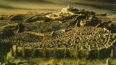 Vue sur le labyrinthe de Jim HENSON