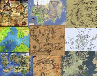 Cartes des mondes de fantasy