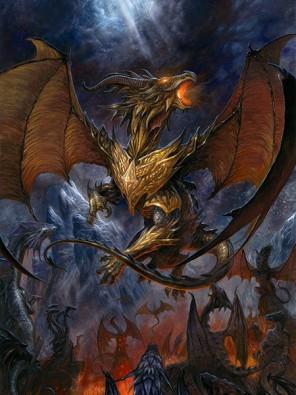 Dragon ©Julien DELVAL, reproduit avec l'aimable autorisation de l'auteur ; http://juliendelval.blogspot.fr/