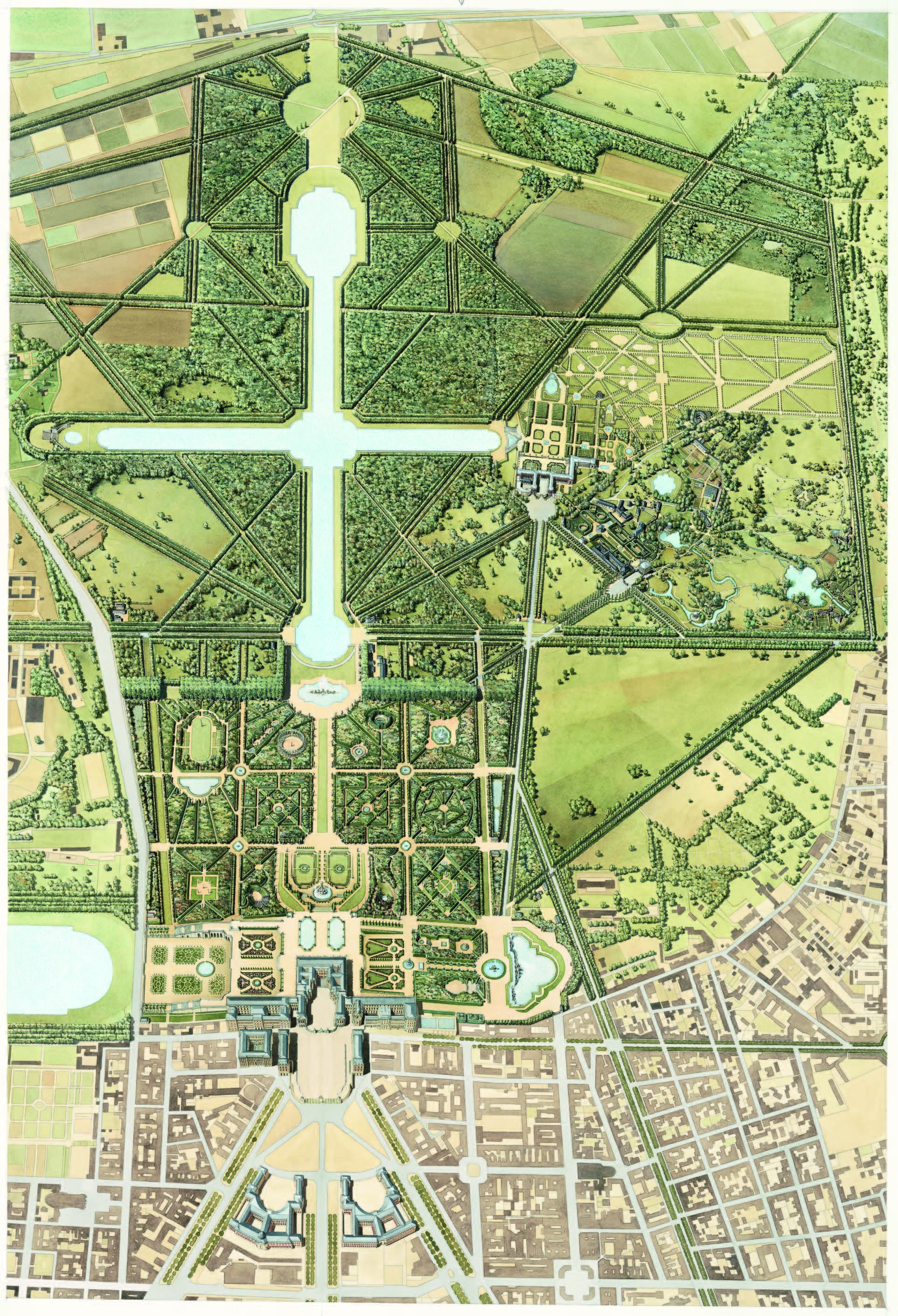L 39 organisation et les composantes des jardins de versailles for Jardin versailles